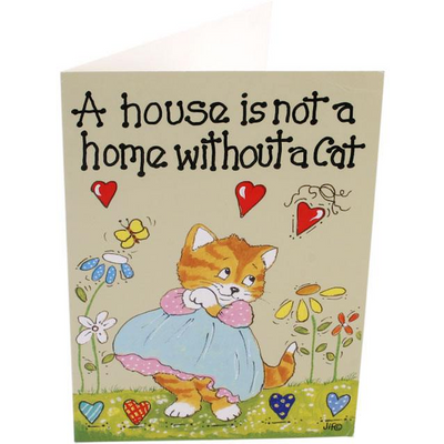 Pack of 6 A House Is Not A Home Smiley Cards