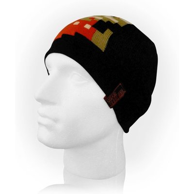 Nintendo - Pixelated Running Mario Unisex One Size Beanie - Black
