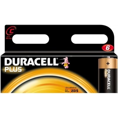 Duracell Plus Power C Size 6 Pack