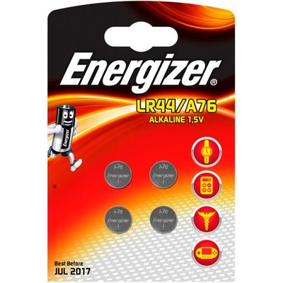 Eveready Energizer LR44/A76 Alkaline Card