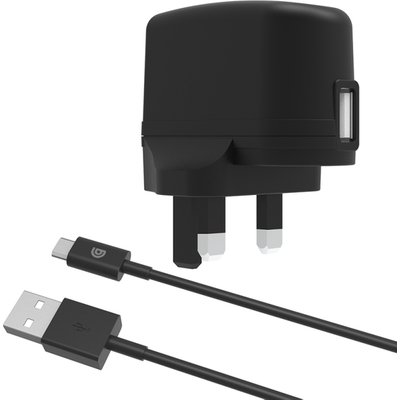 Griffin GP-011-BLK Mains Charger with USB-A to Mixro-USB Cable - Black UK Plug