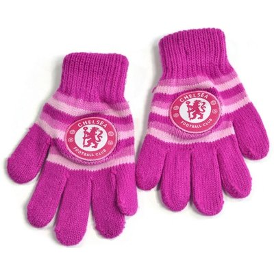Chelsea Knitted Gloves Pink
