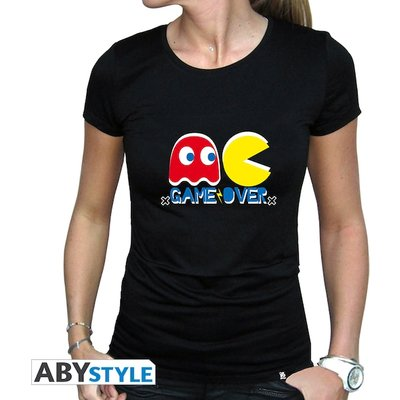 Pac-Man - Game Over Women's Large T-Shirt - Black