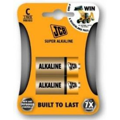 JCB C Super Alkaline Batteries New 2 Pack x 29