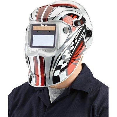 Clarke Clarke GWH6 Chequer Design Arc Activated Solar Powered Grinding/Welding Headshield