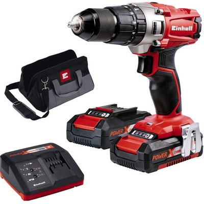 Einhell Power X-Change Einhell Power X-Change TE-CD 18/2 Cordless Li-Ion Impact Drill Kit with 2x1.5Ah Batteries