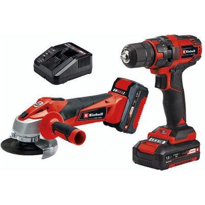 Einhell Einhell TC-TK 18 Li Power X-Change Cordless Drill Driver & Angle Grinder Kit