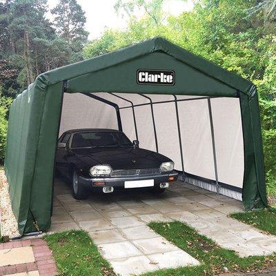 15% Off Weekend Clarke CIG81020 Garage / Workshop - Green (6.1 x 3.0 x 2.4m)