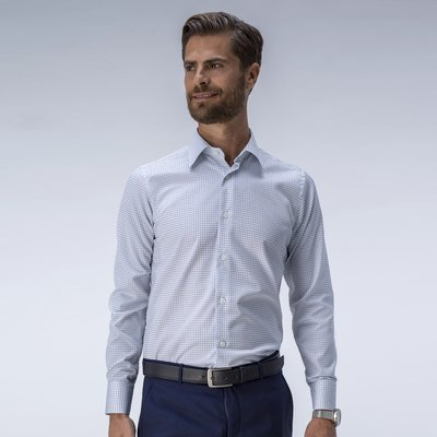 Modern checked business shirt