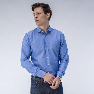 Blue pattern dress shirt