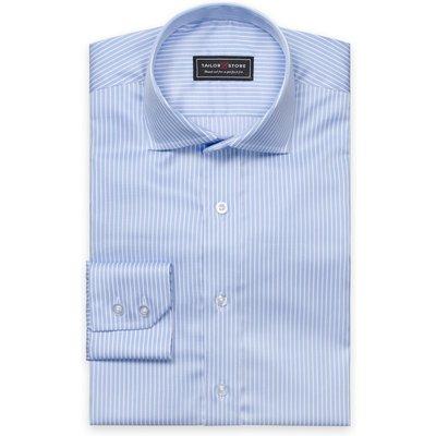 Light blue/white striped twill shirt