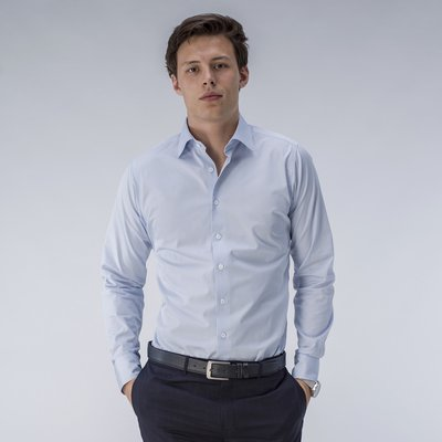 Pale blue business shirt