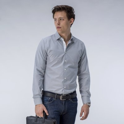 Light gray checked shirt