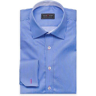 White/Dark blue striped shirt