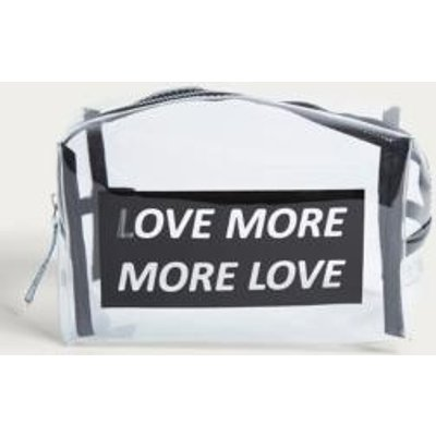 Love More, More Love Make-Up Bag, Clear