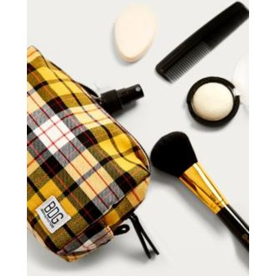 BDG Check Make-Up Bag, yellow