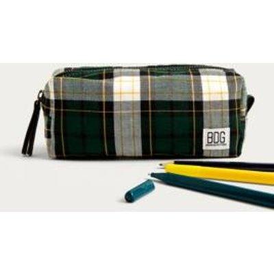 BDG Check Pencil Case, green