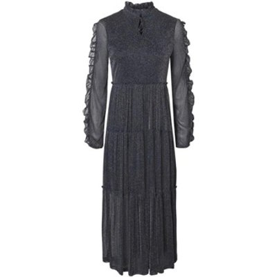Nmglam L/S Frill Long Dress