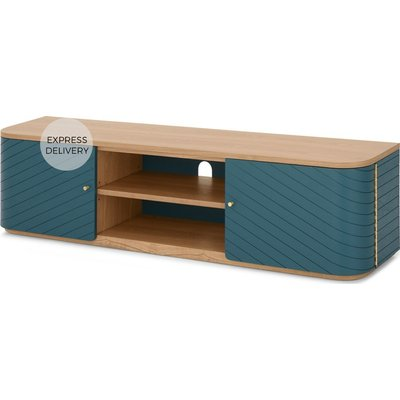 Novak Wide TV Stand, Ash and Teal