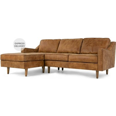 Dallas Left Hand Facing Chaise End Sofa, Outback Tan Premium Leather