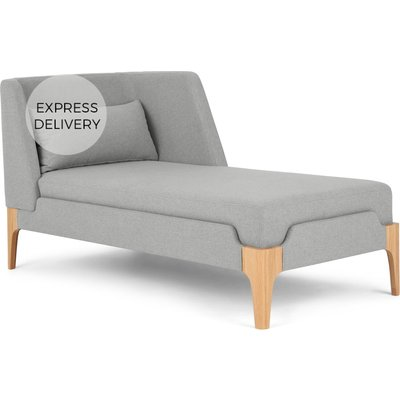 Roscoe Right Hand Facing Chaise Longue, Cool Grey with Light Leg
