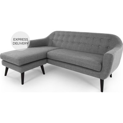Ritchie Chaise End Corner Sofa, Pearl Grey