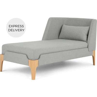 Roscoe Left Hand Facing Chaise Longue, Cool Grey with Light Leg