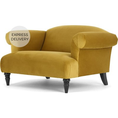 Claudia Loveseat, Antique Gold Velvet