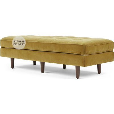 Scott Ottoman Bench, Gold Cotton Velvet