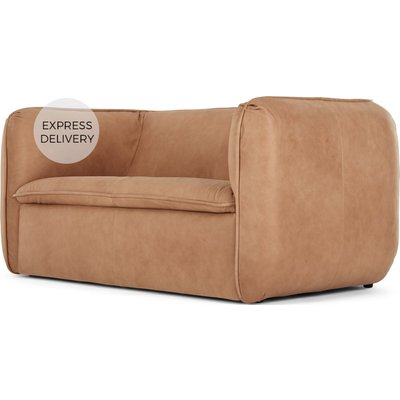 Berko 2 Seater Sofa, Tan Leather