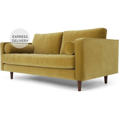 Scott Large 2 Seater Sofa, Gold Cotton Velvet