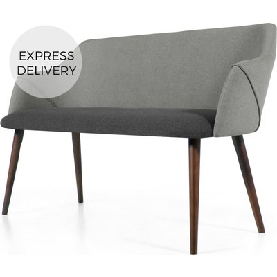 Lule Compact Dining Bench, Marl and Hail Grey