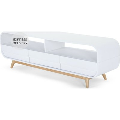 Esme Media Unit, White and Ash