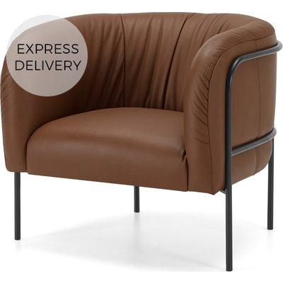 GABE Accent Armchair, Aspen Brown Leather