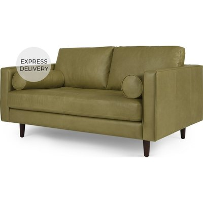 Scott Large 2 Seater Sofa, Chalk Olive Premium Leather