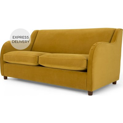 Custom MADE Helena Sofabed, Plush Turmeric Velvet
