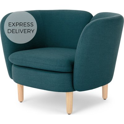 Elio Accent Armchair, Breeze Teal Weave
