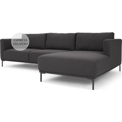 Milo Right Hand Facing Chaise End Corner Sofa, Space Grey