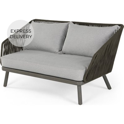 Alif Garden 2 Seater Sofa, Grey Eucalyptus Wood