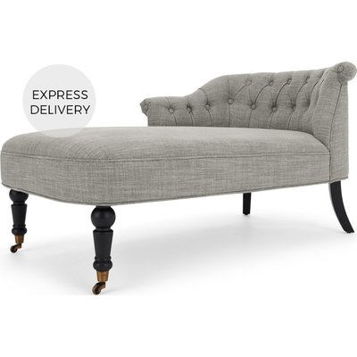 Bouji Left Hand Facing Chaise Longue, Grey Linen Mix