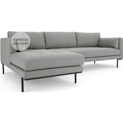 Harlow Left Hand Facing Chaise End Corner Sofa, Mountain Grey
