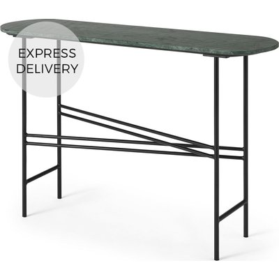 Ailish Console Table, Green Marble