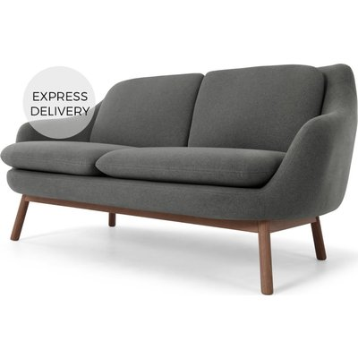Oslo 2 Seater Sofa, Marl Grey with Dark Stained Oak Legs