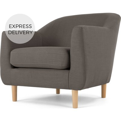 Tubby Armchair, Pewter Grey