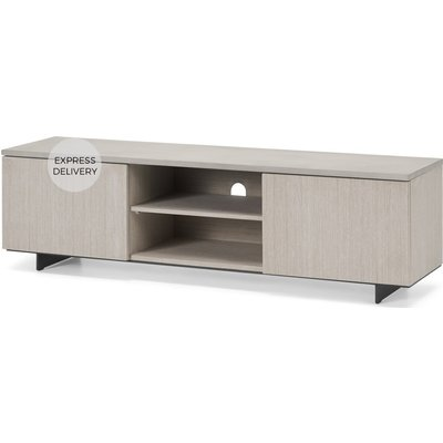Claus Wide TV Stand, Grey Concrete and Light Oak