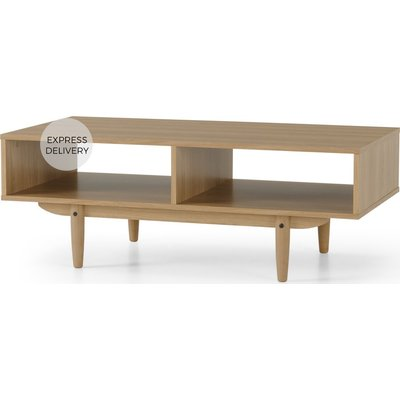 MADE Essentials Asger Storage Coffee Table, Oak Effect