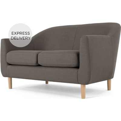 Tubby 2 Seater Sofa, Pewter Grey