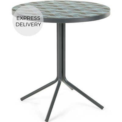 Indra Bistro Table,  Tonal Blue