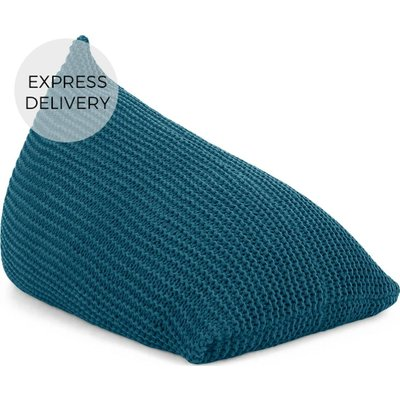 Andra Large Chunky Knit Bean Bag, Teal