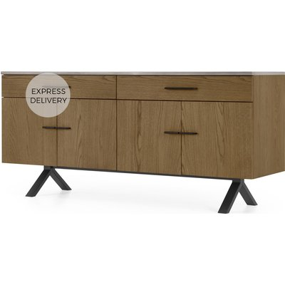 Sora Sideboard, Smoked Oak & Concrete